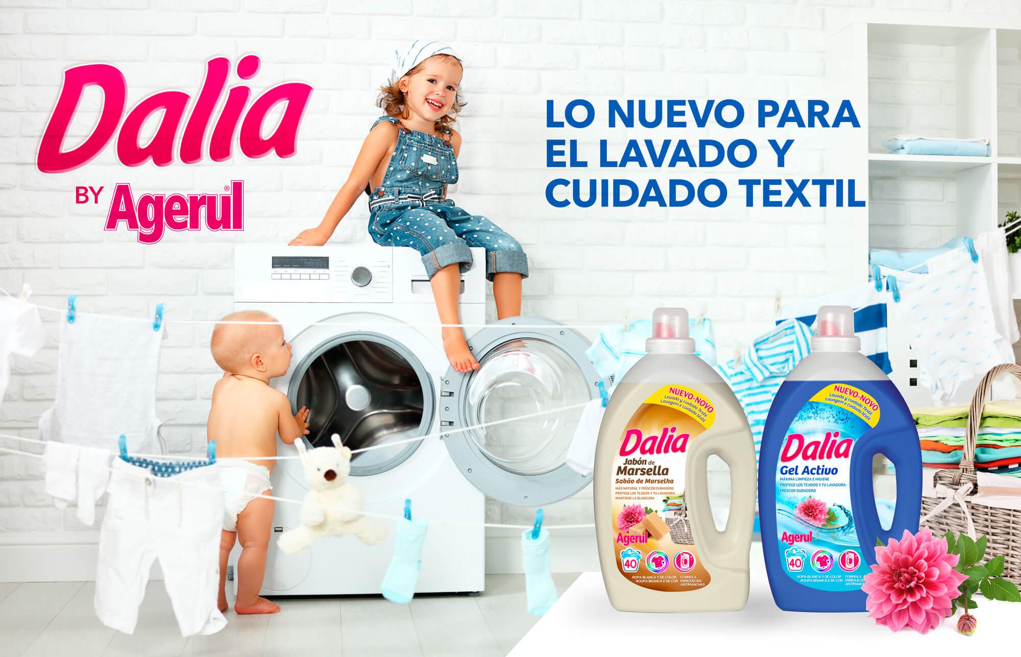 Dalia, la nueva línea de detergentes de Agerul